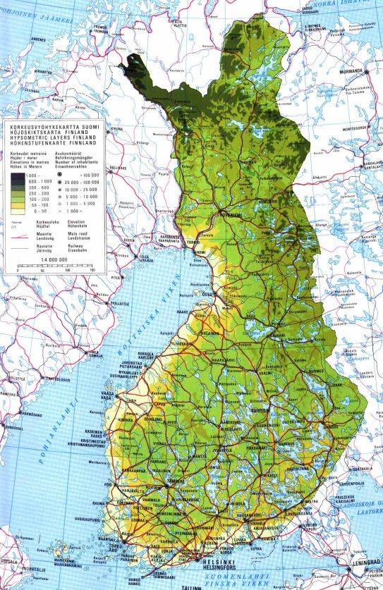 Suomen Kartta Map Of Finland